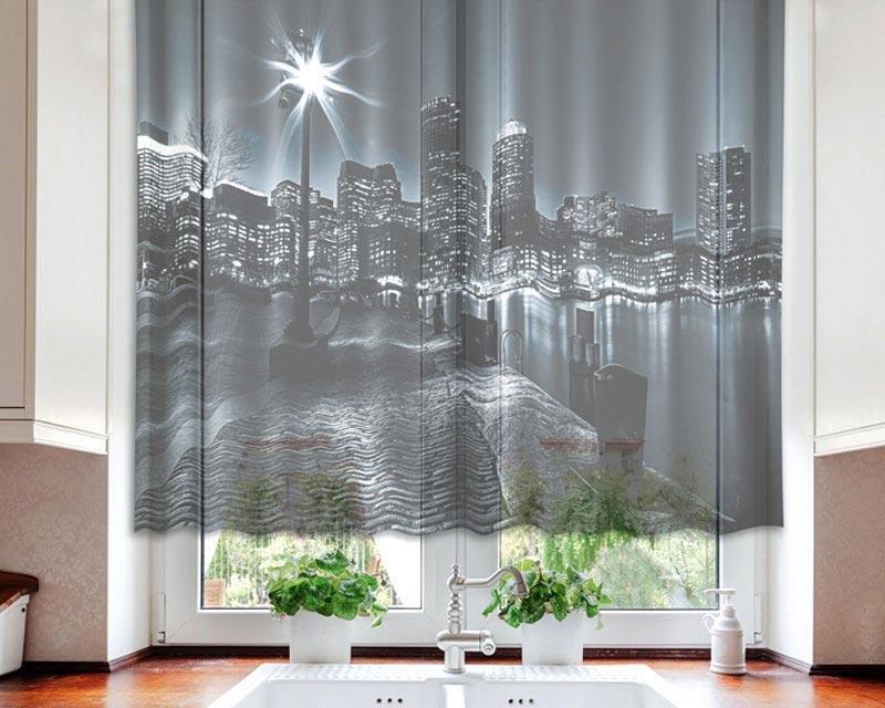 Fotozáclona Boston VO-140-002 textilní foto záclona / záclony s fototiskem 140 x 120 cm Dimex