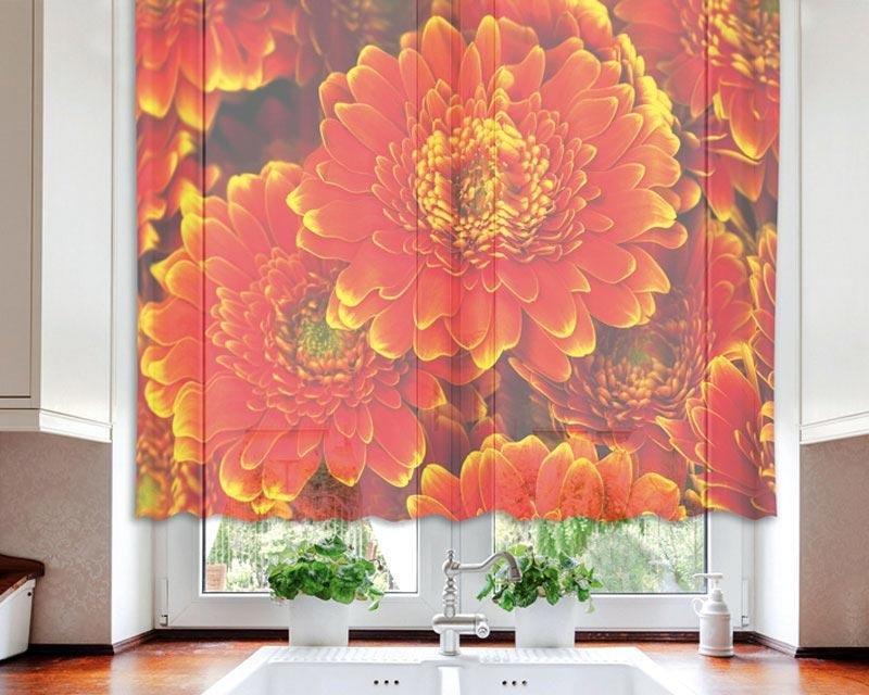 Fotozáclona Gerbera VO-140-007 textilní foto záclona / záclony s fototiskem 140 x 120 cm Dimex