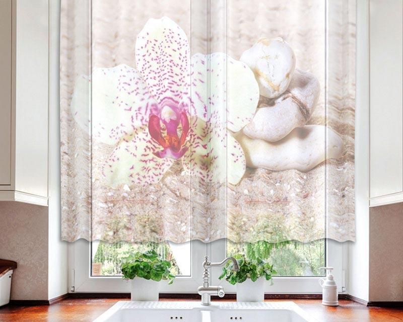 Fotozáclona Zen VO-140-013 textilní foto záclona / záclony s fototiskem 140 x 120 cm Dimex