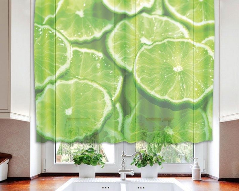 Fotozáclona Limetka VO-140-023 textilní foto záclona / záclony s fototiskem 140 x 120 cm Dimex