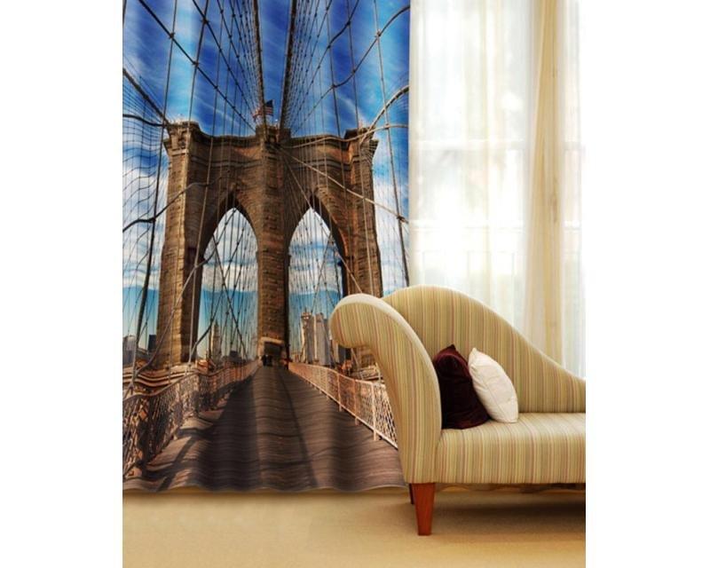 Fotozávěs Brooklynský most CU-140-002 textilní foto závěs / závěsy s fototiskem 140 x 245 cm Dimex