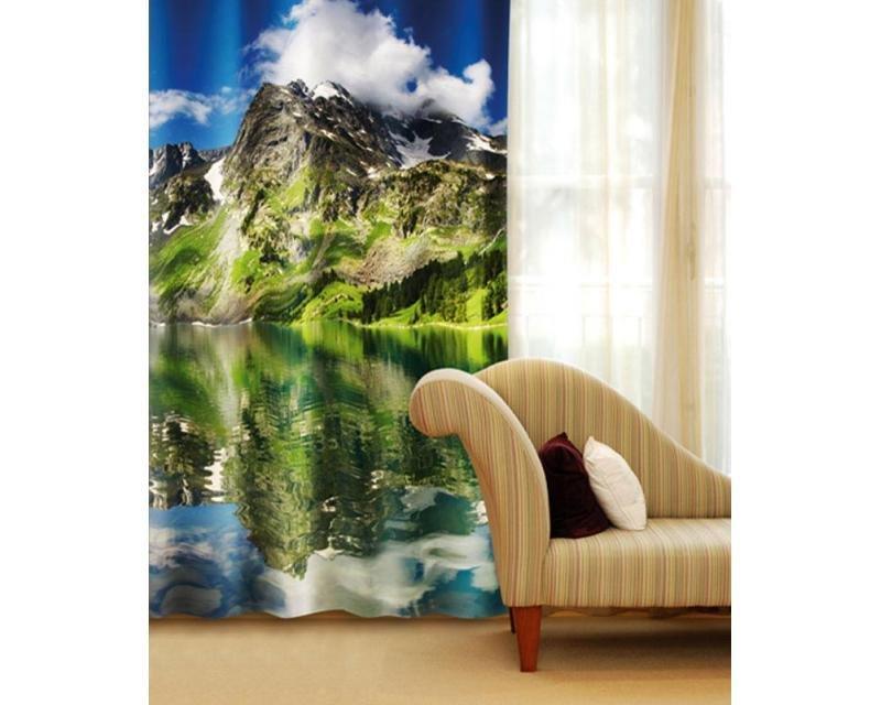 Fotozávěs Jezero CU-140-006 textilní foto závěs / závěsy s fototiskem 140 x 245 cm Dimex