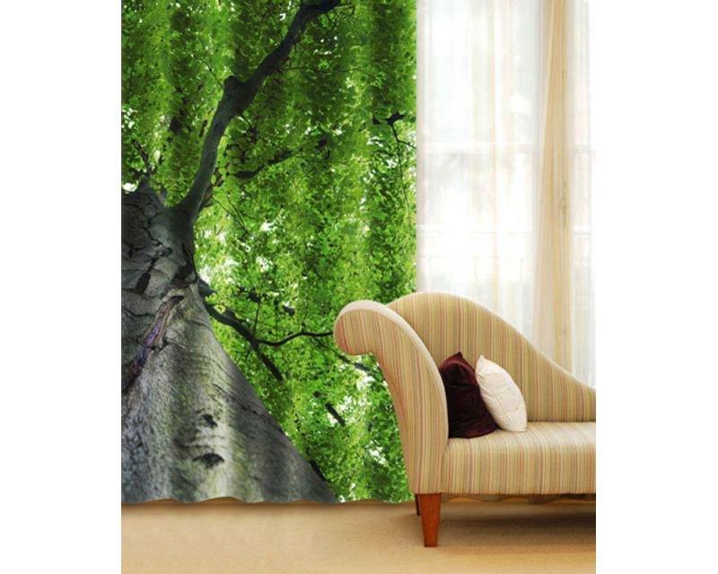 Fotozávěs Koruna stromu CU-140-010 textilní foto závěs / závěsy s fototiskem 140 x 245 cm Dimex