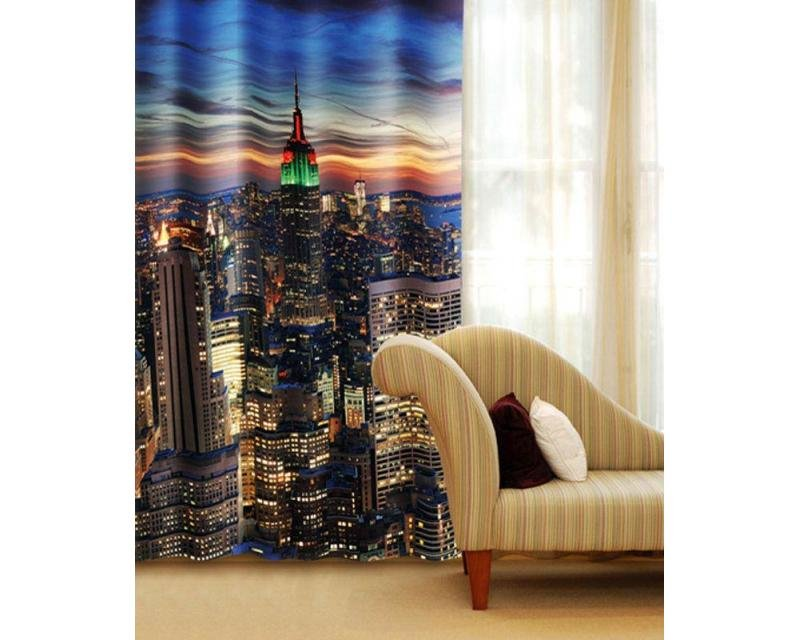 Fotozávěs mrakodrapy v New Yorku CU-140-003 textilní foto závěs / závěsy s fototiskem 140 x 245 cm Dimex