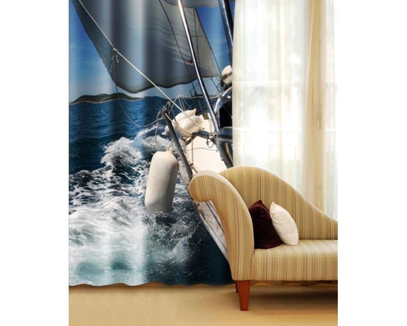 Fotozávěs Plachtění CU-140-007 textilní foto závěs / závěsy s fototiskem 140 x 245 cm Dimex